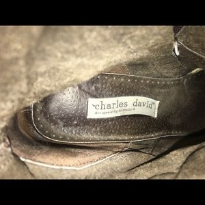 Charles David Shoes - Charles David Snake and Leather Boots